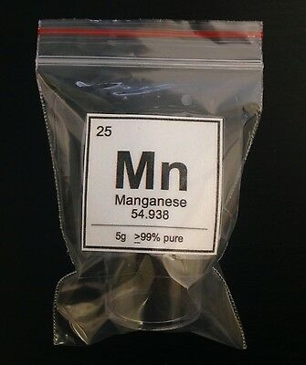 5g Manganese Element Display Sample | 99% Pure | Element 25