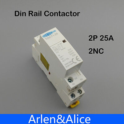 TOCT1 2P 25A 2NC 220V/230V 50/60HZ Din rail Household ac contactor