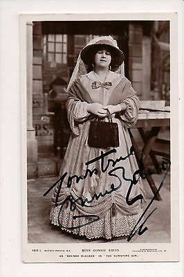 Vintage RPPC Autographed by Connie Ediss English actress