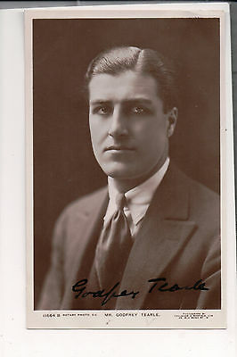 Vintage RPPC Autographed by Sir Godfrey Seymour Tearle British actor