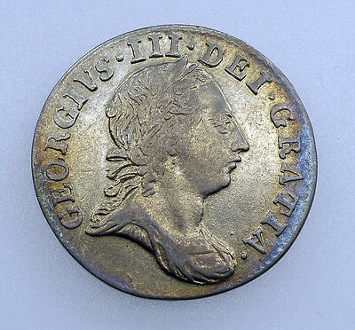 1763 GEORGE III SILVER 3d THREEPENCE COIN