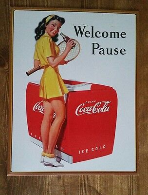 Coca-Cola/welcome Pause 12×16 Tin Sign