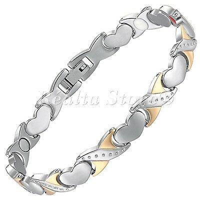 Womens Magnetic Bracelets-Negative IONS+ for Arthritis Therapy & Wellbeing-HKG4