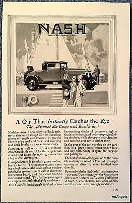 1927 Nash Advanced Six Coupe Rumble Seat Sailboats Catches The Eye ad
