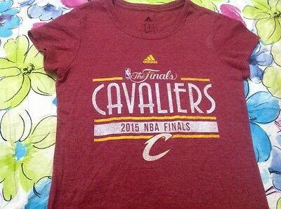 Women's Adidas Cavaliers 2015 NBA Finals RED T-shirt - Small, New