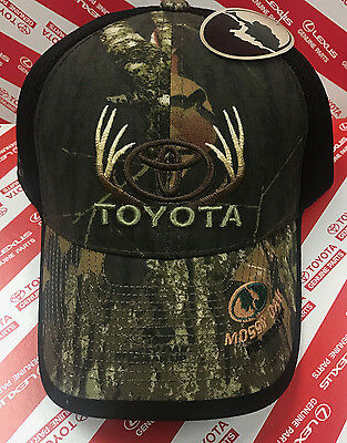 New Toyota Mossy Oak Field Staff Mesh Back Camo Cap Antlers Adult Size Black