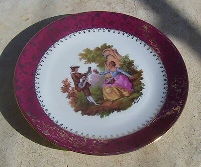 Vintage Limoges France Courting Couples Large Display Plate
