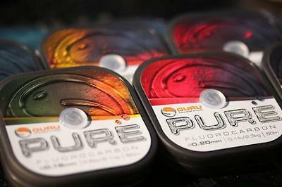 Guru NEW Pure Fluorocarbon Coarse Fishing Match Rig Line Hooklink *All Sizes*