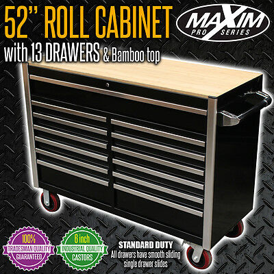 MAXIM 13 Drawer 52 inch Tool Box SD Mechanic Workshop Toolbox Steel Roll Cabinet