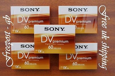 Sony Premium Dvm60 Mini Dv Tapes / Cassettes - Pack Of 5 - Brilliant Quality