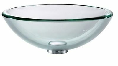 Bathroom Sink Glass Wash Basin Small Compact Clear Round Corner