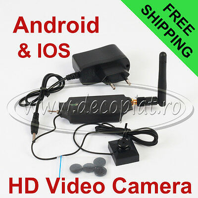 NEW Spy Video Camera in Button for cheat exams with Real time transmission LIVE