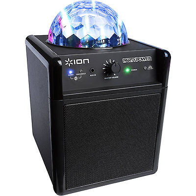 ION Party Power Wirelss Bluetooth Audio Speaker with Party Lights - xmas NYE