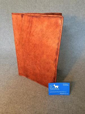 Handmade Goat Leather A4 Book Cover BCA4 Document Holder Billy Goat Designs