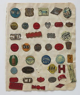 39 Antique Tobacco Tags - Some Scarce And Rare