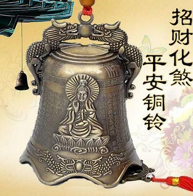 Chinese excellent beautifully carved Dragon Buddha bell decoration Wind chimes