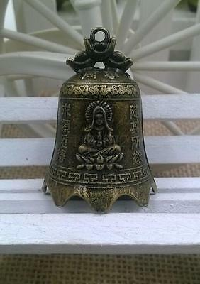 varieties China's mini brass copper sculpture pray Buddha Feng shui bell 42*30mm