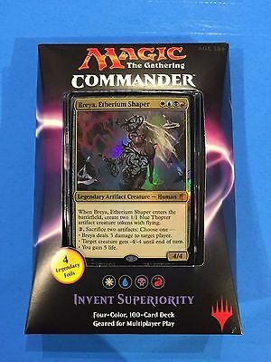 ( INVENT SUPERIORITY ) - Commander 2016 - Sealed New! - Magic the Gathering MTG