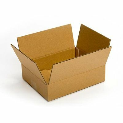 "Recycled Corrugated Cardboard Boxes Lid 12x8x6"" Shipping Moving Packing 25-count"
