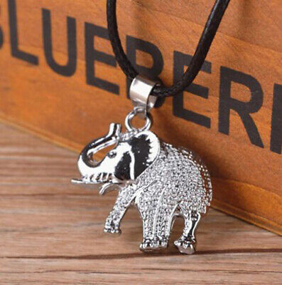 ae8eaf1fc0756 FASHION UNISEX STAINLESS Steel Men's Elephant Pendant Chain Necklace Gift  Sale
