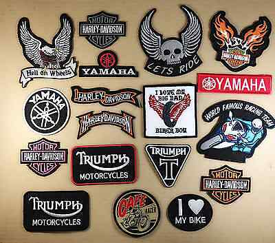 Top Ever Biker Motorcycle Iron & Sew on badges,patches