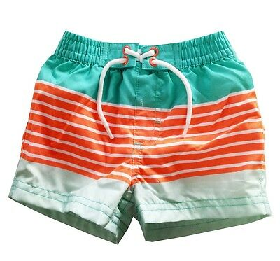 Infant Baby Boys Swim Trunks Big Boy Striped Fashion Beach Bathing Bottoms Short