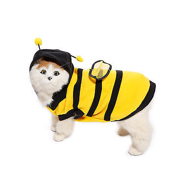 Dog Pet Puppy Cat Jumper Clothes Coat Bee Warm Costume Apparel Winter Outfit