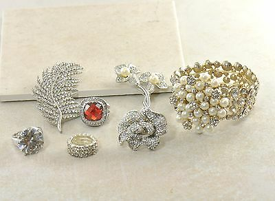 Vintage High End Costume Jewelry Lot Rhinestone Sterling Crystal Art Deco Gifts