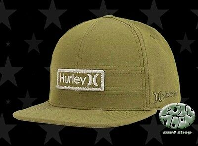 promo code 5480d 4c237 New Hurley Phantom EverLight Army Men s Snapback Cap Hat