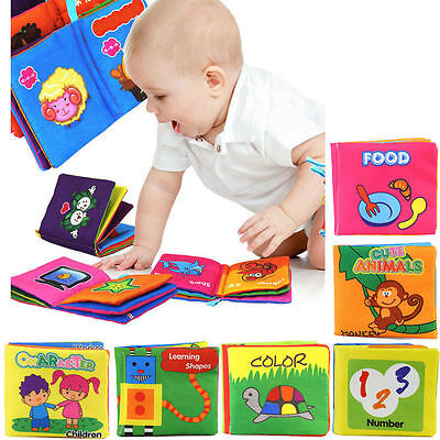 Early Reading Soft Cloth Cognize Book Baby Toddler English Chinese Learning Toy