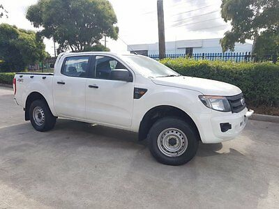 2012 Ford Ranger PX XL 2.2 (4x4) White Automatic 6sp A