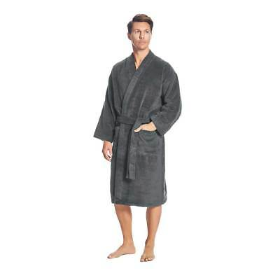 NEW Sheridan Quick Dry Luxury Graphite Small-Medium Bathrobe