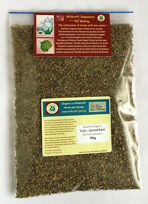 TULSI Tea 50g Holy or Sacred Basil Dried Herb Herbal Certified Organic