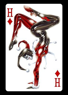 HARLEY QUINN SUICIDE SQUAD DIAMOND CARD ART IMAGE A4 Poster  Print Laminated