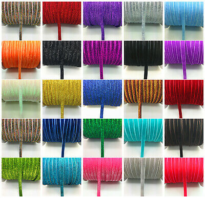 "New DIY 5 10 20 50 yards 3/8 ""10mm Velvet Ribbon Headband Clips Bow Decoration J"