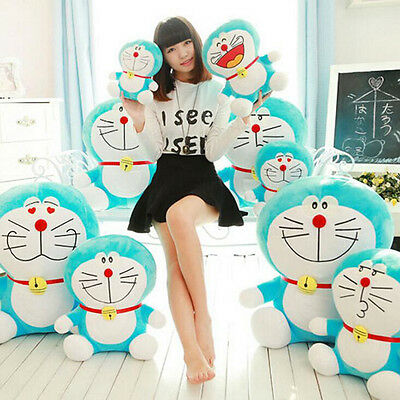 "10"" Cute Plush Toy Soft Smile Doraemon Doll Stuffed Animal Funny Gift"