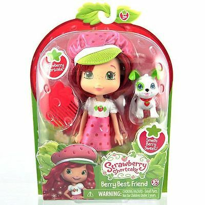 Strawberry Shortcake Doll & Pet Pupcake - Scented - NEW Strawberry Shortcake
