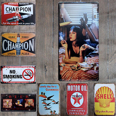 "Vintage Retro Metal Tin Sign Poster Plaque Wall Home Decor ""Garage , Motor Oil"""