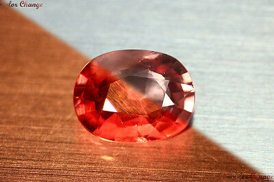 2.760 Ct Rare Natural From Earth Mined *color Change Malaya Garnet* Aaa+ Gem~!!!