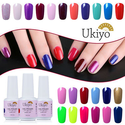 Ukiyo 15ml Soak Off UV Gel Nail Polish UV Gel No Wipe Top Base Coat Manicure