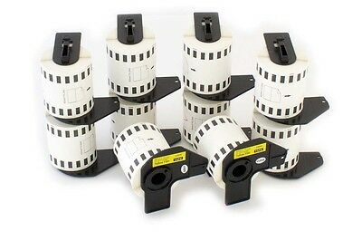 10x Roll Labels Premium 62mm yellow for Brother DK-22606
