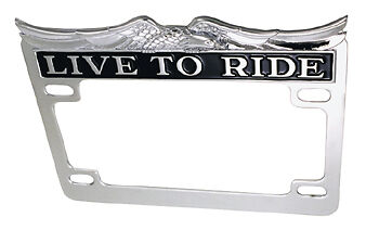 "Entourage de plaque ""live to ride"" pour Harley, Custom"