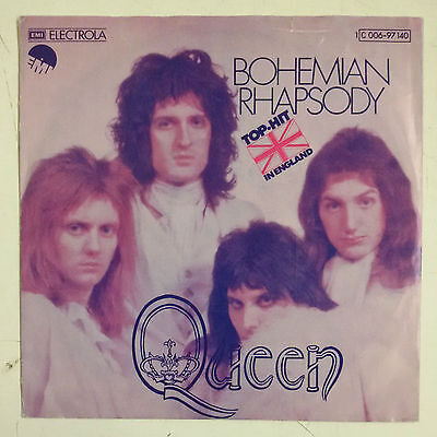 "Queen Bohemian Rhapsody Single 7"" Alemania 1975"