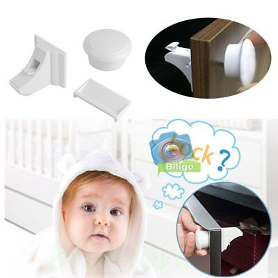 4/8 Locks + Key Magnetic Baby Child Pet Proof Cupboard Door Drawer Safety Lock