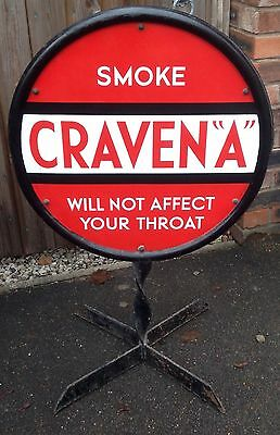 Craven A Circular Freestanding Double Sided Enamel Sign