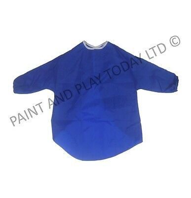Pack of 5 Childrens Kids Play Aprons Painting Art Craft - Blue - Age 5-7 Years