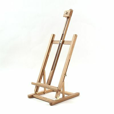 WOODEN ARTISTS TABLE EASEL | for stretched canvas, studio, easel, real wood