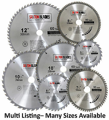 Saxton TCT Circular Wood Saw Blades 135mm to 300mm Bosch Makita Dewalt Festool