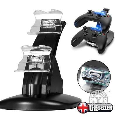 5V Dual USB Charger Docking Station Charging Stand For Xbox One Game Controller