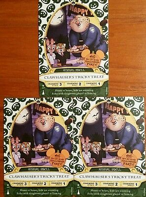 Sorcerers Of The Magic Kingdom 3 card lot Clawhauser's Tricky Treat 09P